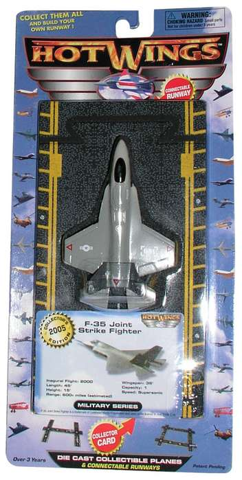 "F-35 Lightning II Joint Strike Fighter (Approx. 5""), Hot Wings Toy Airplanes Item Number HW14129"
