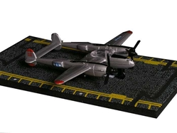 "P-38 Lightning (Approx. 5""), Hot Wings Toy Airplanes Item Number HW17102"