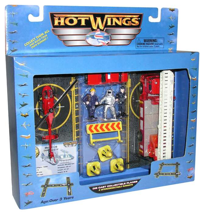 "Hot Wings Rescue Playset (Approx. 5""), Hot Wings Toy Airplanes Item Number HW19102"