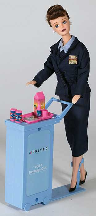 United Airlines Flight Attendant Doll
