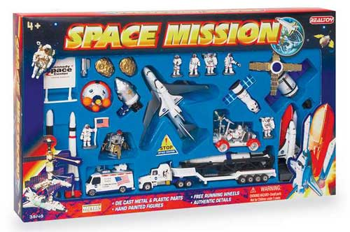 Space Mission 28 Piece Playset W/Kennedy Space Center Sign ...