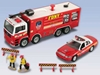 Fdny Fire Truck/Chief Car Set W/Accessories, Realtoy Diecast Toys Item Number RT8710