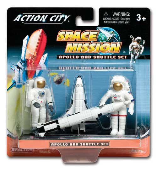 Space Shuttle And Astronaut Gift Pack, Realtoy Diecast Toys Item Number RT9122