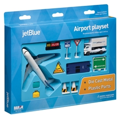 JetBlue Airport 14 Piece Play Set, Realtoy Diecast Toys Item Number RT1221