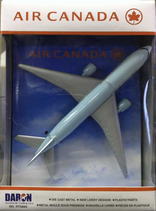 "Air Canada Airliner (5""), Realtoy Diecast Toys Item Number RT5884"