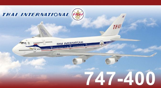 "Thai International B747-400 ""50th Anniversary Retro Livery"" - HS-TGP (1:400), DragonWings 400 Diecast Airliners Item Number DRW56248"