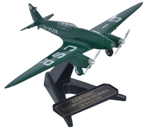 de Havilland DH.88 Comet, G-ACSR, MacRobertson Air Race, 1934 (1:72), Oxford Diecast 1:72 Scale Models Item Number 72COM003
