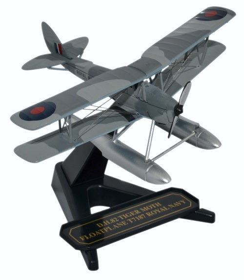 de Havilland DH.82A Tiger Moth Floatplane, T7187, British Royal Navy, Oxford Diecast 1:72 Scale Models Item Number 72TM009