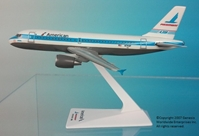 "American / Piedmont A319 ""Heritage Livery"" (1:200), Flight Miniatures Snap-Fit Airliners, Item Number AB-31900H-010"