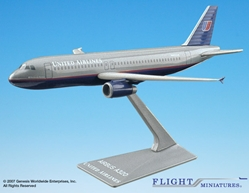 United A320-200 (New Colors) (1:200), Flight Miniatures Snap-Fit Airliners, Item Number AB-32020H-009