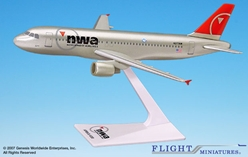 Northwest A320-200 (New Colors) (1:200), Flight Miniatures Snap-Fit Airliners, Item Number AB-32020H-055