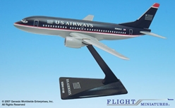 US Airways 737-300 (1:200), Flight Miniatures Snap-Fit Airliners, Item Number BO-73730H-019