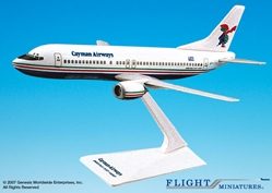 Cayman Airways 737-400 (1:185), Flight Miniatures Snap-Fit Airliners, Item Number BO-73740G-002
