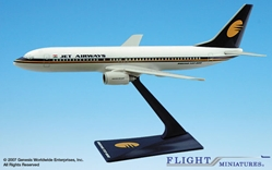 Jet Airways (93-Cur) 737-800 (1:200), Flight Miniatures Snap-Fit Airliners, Item Number BO-73780H-005