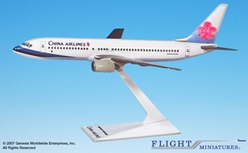 China Airlines 737-800 (1:200), Flight Miniatures Snap-Fit Airliners, Item Number BO-73780H-012