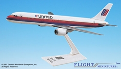 United 757-200 (Old Colors) (1:200), Flight Miniatures Snap-Fit Airliners, Item Number BO-75720H-012