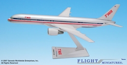 TWA/AA Trans(01-02) 757-200 (1:200), Flight Miniatures Snap-Fit Airliners, Item Number BO-75720H-050