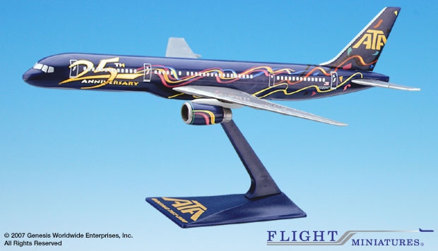 ATA 25th Anni. 757-200 (1:200), Flight Miniatures Snap-Fit Airliners, Item Number BO-75720H-503