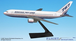 Boeing 767-200 House Colors (1:200), Flight Miniatures Snap-Fit Airliners, Item Number BO-76720H-012