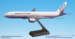 Boeing 777-200 House Colors (1:200), Flight Miniatures Snap-Fit Airliners, Item Number BO-77720H-002