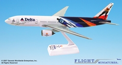 "Delta 777-200 ""2002 Olympics""  (1:200), Flight Miniatures Snap-Fit Airliners, Item Number BO-77720H-400"
