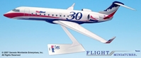 Delta/SkyWest 30th Anniversary CRJ200 (1:100), Flight Miniatures Snap-Fit Airliners, Item Number CA-20000C-007