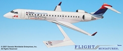 Delta ASA 25th Anniversery CRJ-700 (1:100), Flight Miniatures Snap-Fit Airliners, Item Number CA-70000C-005
