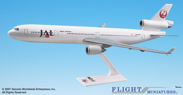 Japan Airlines (89-03) MD-11 (1:200), Flight Miniatures Snap-Fit Airliners, Item Number MD-01100H-016