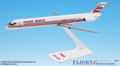 TWA MD-80 Interim Colors (1:200), Flight Miniatures Snap-Fit Airliners, Item Number MD-08000H-004