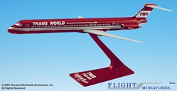 "TWA MD-80 ""Wings of Pride"" (1:200), Flight Miniatures Snap-Fit Airliners, Item Number MD-08000H-005"