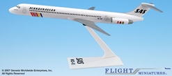 SAS MD-81 (1:200), Flight Miniatures Snap-Fit Airliners, Item Number MD-08000H-014