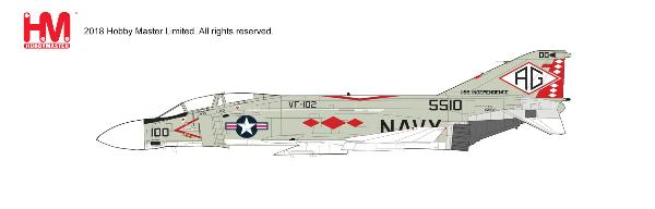 F-4J Phantom II Die Cast Model, VF-102 Diamondbacks, USS Independence (CV-64) , 1976 (1:72) - Preorder item, order now for future delivery , Hobby Master Diecast Airplanes, Item Number HA19006