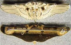 WWII Flight Nurse Sterling w Gold, Weingarten Gallery Item Number P-1145G