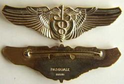 WWII Flight Surgeon Pasquale Sterling w Gold, Weingarten Gallery Item Number P-1205G