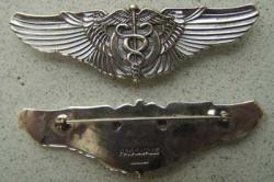 WWII Flight Surgeon Wing Pasquale Sterling w Gold, Weingarten Gallery Item Number P-1205
