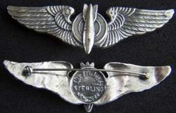 WWII Luxenberg 1st Pattern Bombardier Sterling, Weingarten Gallery Item Number P-1823