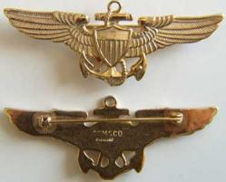 WWII Coast Guard Pilot Sterling w Gold, Weingarten Gallery Item Number P-1222