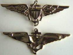 WWII Navy Pilots Wing Sterling w Gold, Weingarten Gallery Item Number P-1345