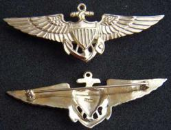WWII Navy Pilot Wing Sterling / 24k GP, Weingarten Gallery Item Number P-1766