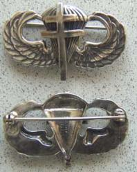WWII Free French Paratrooper Badge Sterling, Weingarten Gallery Item Number P-1584