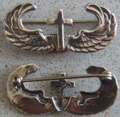 WWII Paratrooper Chaplin Badge Sterling, Weingarten Gallery Item Number P-1432
