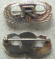 WWII Rigger Paratrooper Badge Sterling, Weingarten Gallery Item Number P-1272R