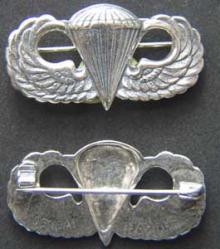 Paratrooper Badge Sterling Sendi Japan, Weingarten Gallery Item Number P-1658