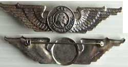 WWII CAA Pilots Wing Sterling, Weingarten Gallery Item Number P-1235
