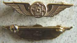 WWII CAA Collar Insignia Wright Flyer Sterling, Weingarten Gallery Item Number P-1449