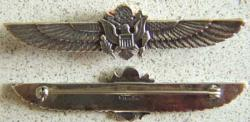 WWII Army Sweetheart Wing Sterling, Weingarten Gallery Item Number P-1396