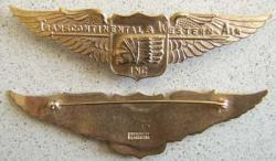 Transcontinal & Western Air Sterling w Gold, Weingarten Gallery Item Number P-1510
