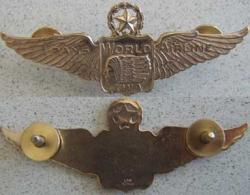 TWA 1950s Pilot Wings Sterling Gold Plated, Weingarten Gallery Item Number P-1417