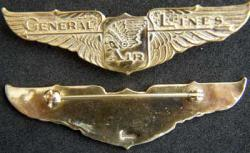 General Lines Pilot wing sterling, Weingarten Gallery Item Number P-1781