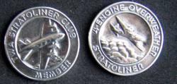 TWA Stratoliner Club Coin Sterling, Weingarten Gallery Item Number P-1676